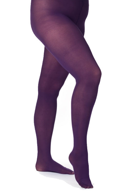 Pamela Mann Hosiery Curvy Super-Stretch 50 Denier Tights in Purple