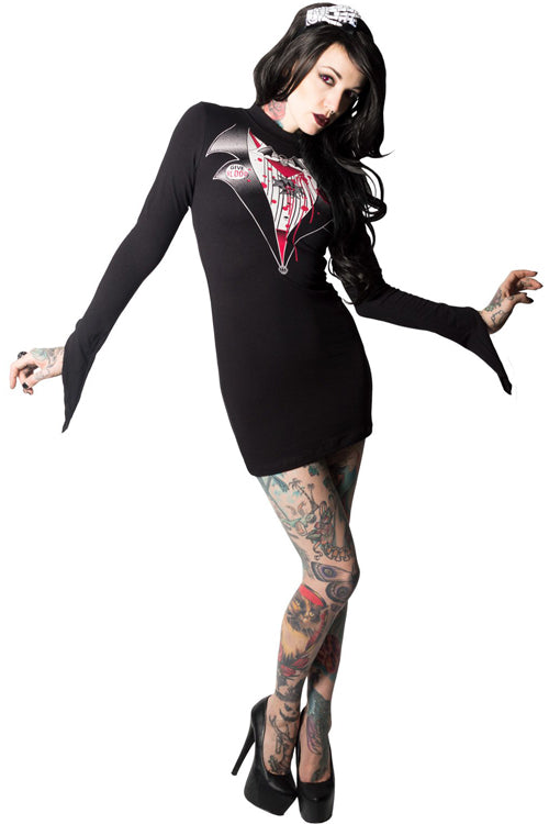 Kreepsville 666 Stretchy Dracula Wiggle Dress