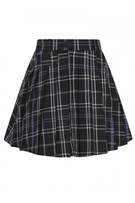 Collectif Daria Pleated Mini Skirt in Nancy Check