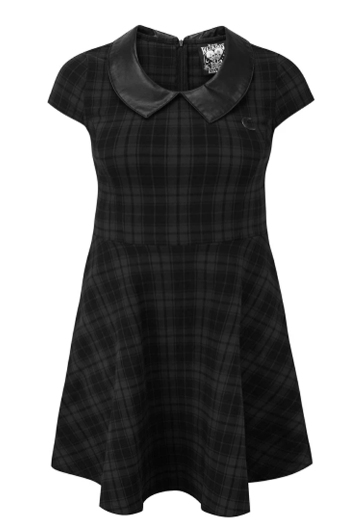 Killstar Darklands Doll Dress in Tartan