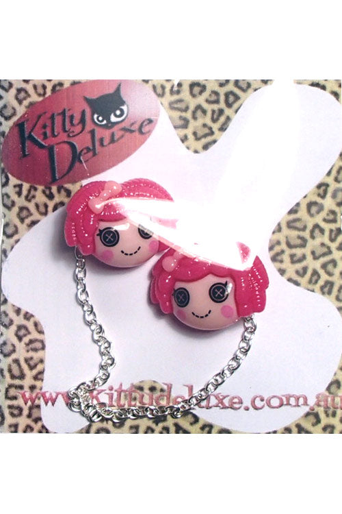 Kitty Deluxe Cardigan Clips in Hot Pink Dollies Design