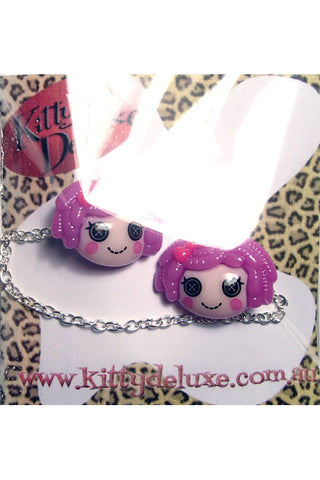 Kitty Deluxe Cardigan Clips in Purple Dollies Design