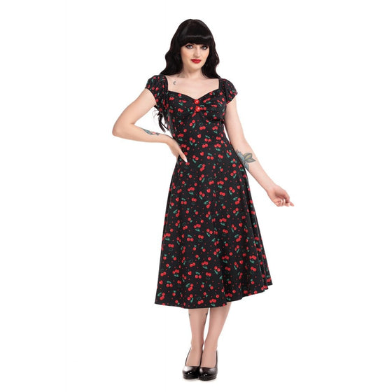 Collectif Dolores Doll Dress in Cherry Love