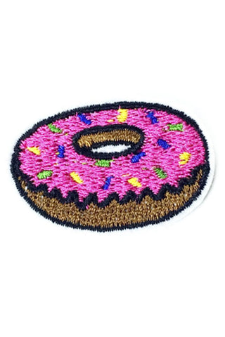 Kitty Deluxe Iron on Patch of Mini Donut
