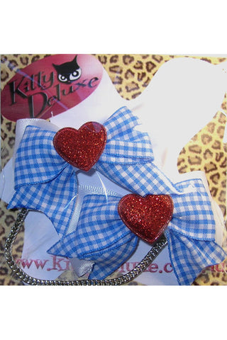 Kitty Deluxe Cardigan Clips in Dorothy Design