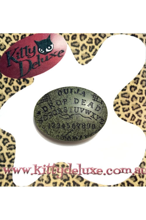 Kitty Deluxe Broochlette Brooch in Drop Dead Ouija