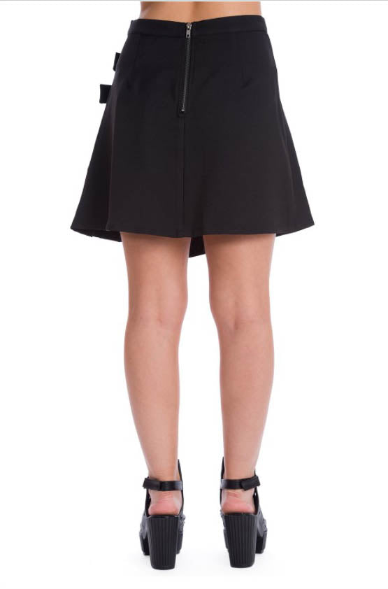 Banned Dull Moon Buckled Kilt Skirt