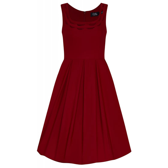 Dolly & Dotty Elaine Dress in Deep Red
