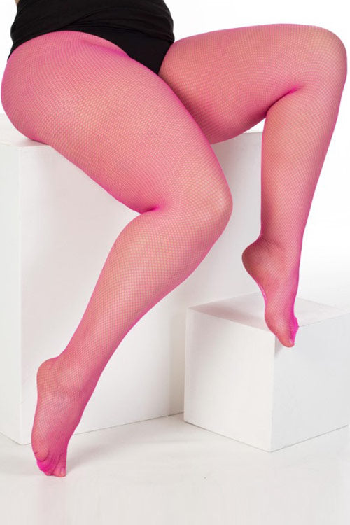 Pamela Mann Hosiery Fishnet Tights in Pink