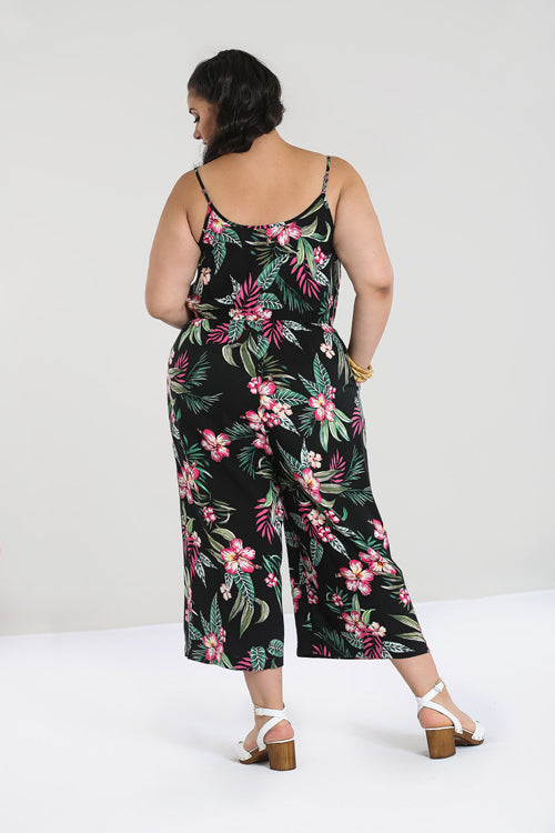 Hell Bunny Kalani Jumpsuit in Black