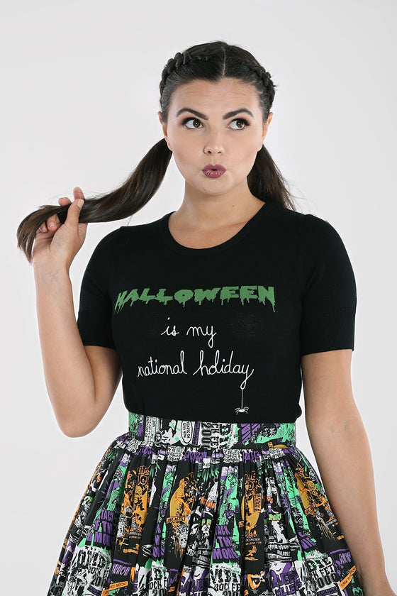 Hell Bunny Halloween Forever Top