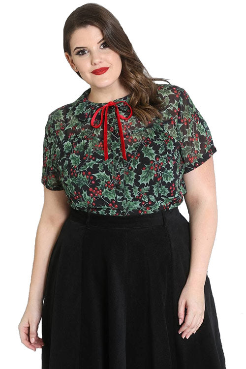 Holly Berry Blouse in Black