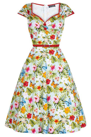 Lady Vintage Isabella Dress in Summer Floral