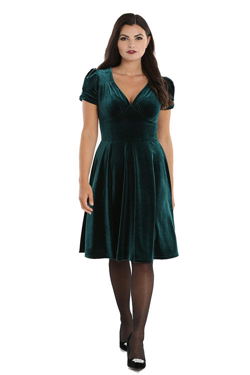 Hell Bunny Joanne Dress in Green
