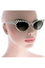 Kiss Eyewear Bettie Slim Frame Polka dot Cat's Eye Sunglasses - Blue