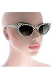 Kiss Eyewear Slim Frame Polka dot Cat's Eye Sunglasses - Blue