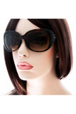 Kiss Eyewear Karen Medium Oval Sunglasses with Quilted Arm with Rhinestones in Tortoise