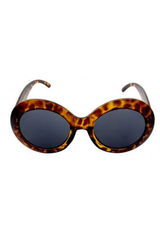 Kiss Eyewear Large Oval Thick Frame Sunglasses in Tortoise