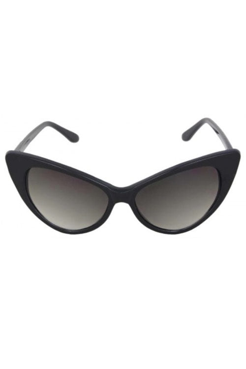 Kiss Eyewear Felicity Classic Retro Frame Cat's Eye Sunglasses in Black