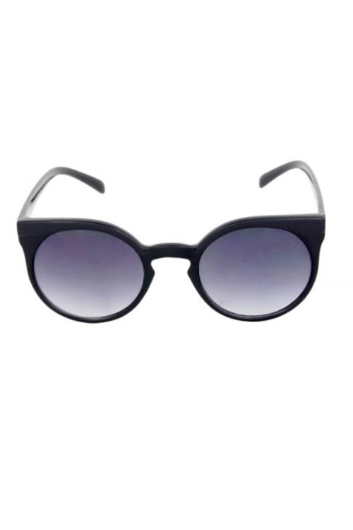 Kiss Eyewear Emily Funky Large Round Frame Sunglasses in Black