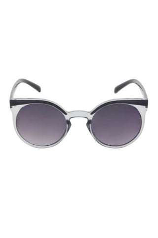 Kiss Eyewear Emily Funky Large Round Frame Sunglasses in Grey Crystal