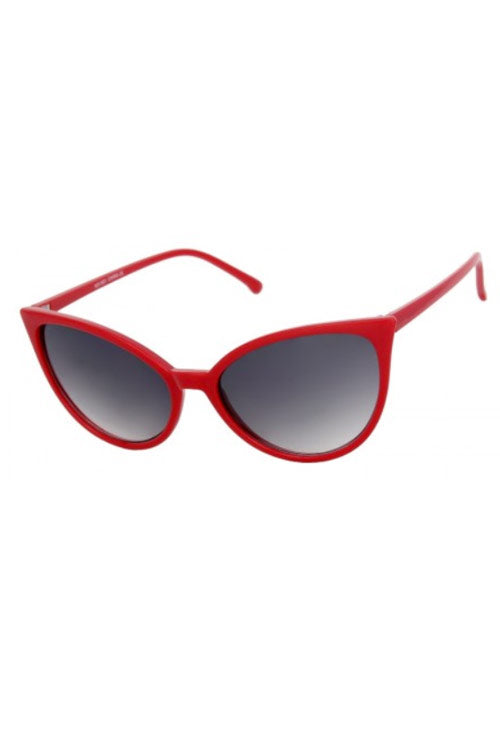Kiss Eyewear Gloria Classic Thin Retro Frame Cat's Eye Sunglasses in Red