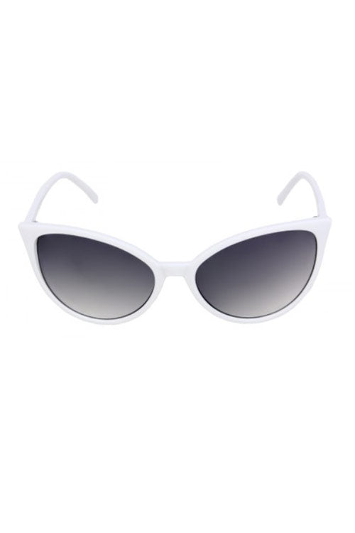 Kiss Eyewear Gloria Classic Thin Retro Frame Cat's Eye Sunglasses in White