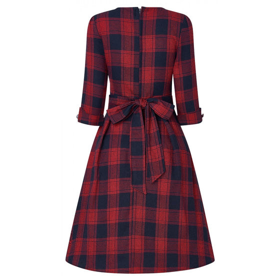 Dolly & Dotty Katherine Dress in Red and Navy Tartan