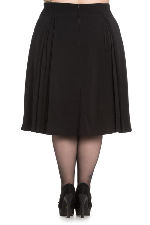 Hell Bunny Kennedy 50's Skirt in Black