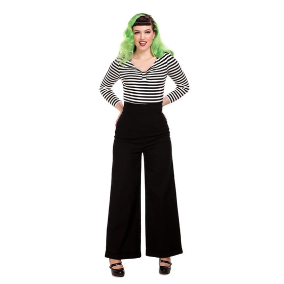 Collectif Kiki High Waisted Jean in Black