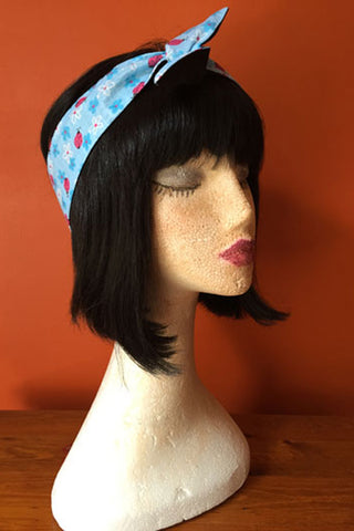 Reversible Wired Headband in Ladybird Print & Black