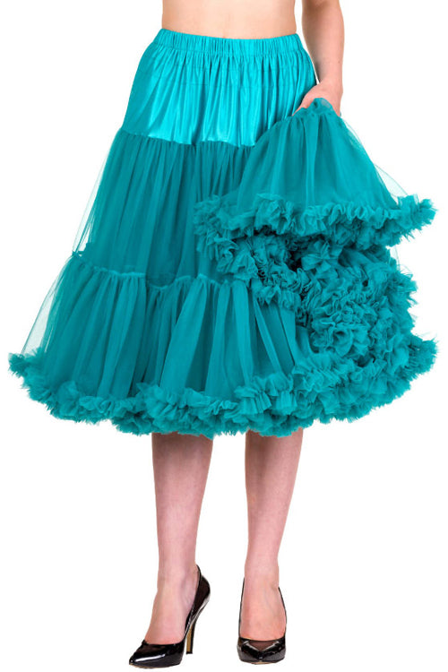 "Banned Lifeforms 26"" Super Soft Petticoat in Emerald/Teal"