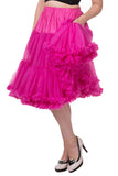 "Banned Lifeforms 26"" Super Soft Petticoat in Hot Pink"