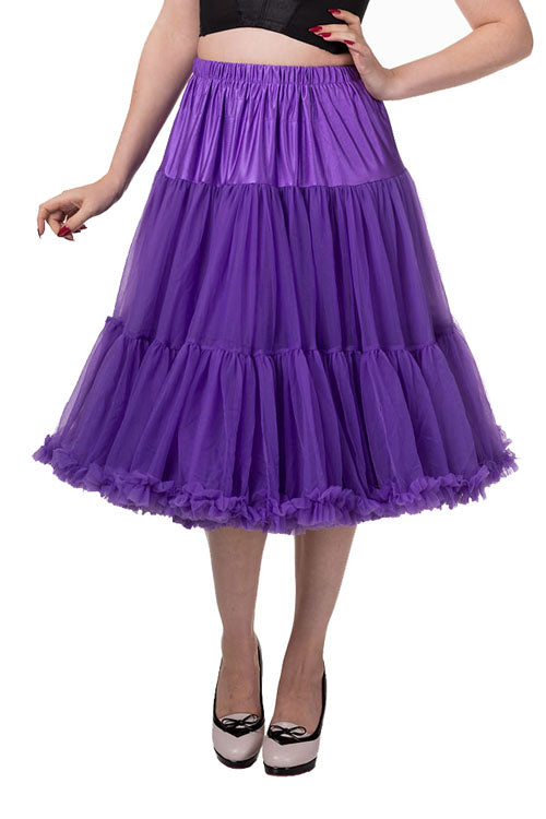"Banned Lifeforms 26"" Super Soft Petticoat in Purple"