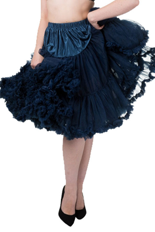 "Banned Lifeforms 26"" Super Soft Petticoat in Navy"