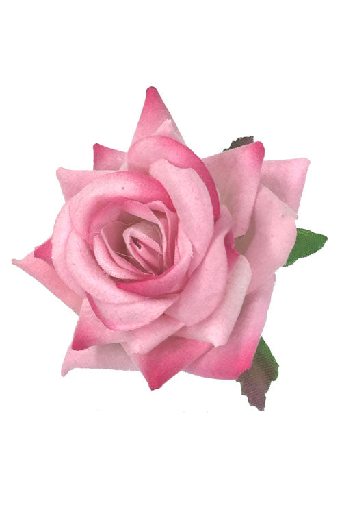Velvet Rose Clip/Brooch in Light Pink