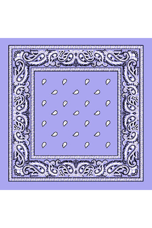 Kitty Deluxe Cotton Bandana in Lilac Paisley