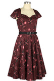 Chicstar Lizzie 50's Dress in Atomic Wine