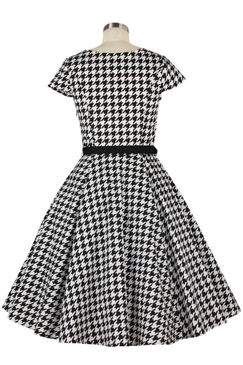 Chicstar Lizzie 50's Dress in Houndstooth