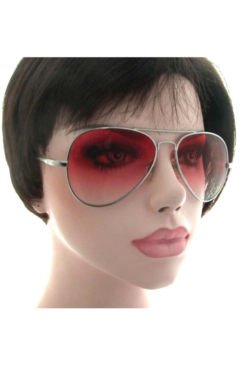 Kiss Eyewear Aviator Jenna Metal Frame Sunglasses Smoke Lens and Rhinestone Star