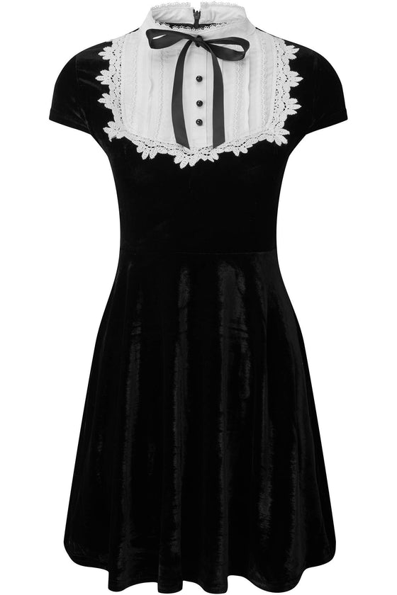 Killstar Madison Velvet Skater Dress