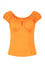 Hell Bunny Melissa Top in Orange