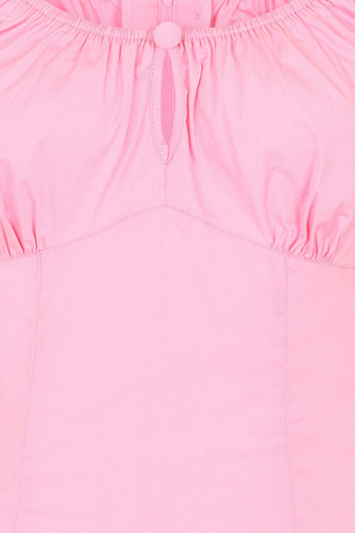 Hell Bunny Melissa Top in Candy Pink