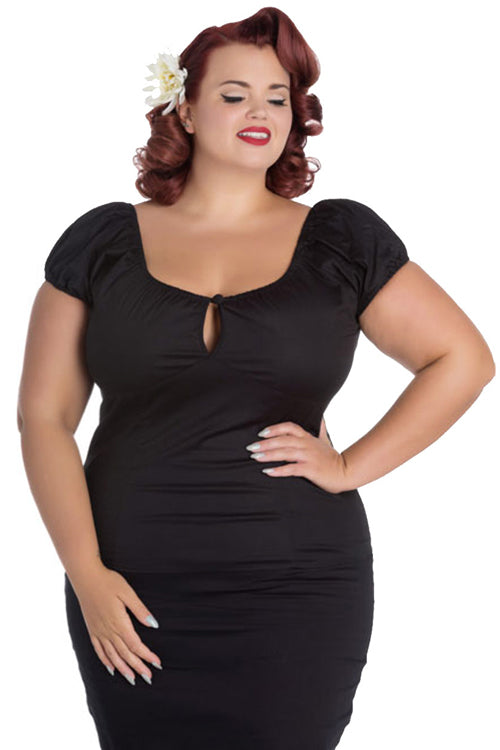 Hell Bunny Melissa Top in Black
