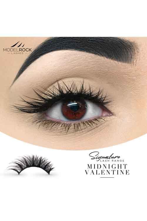 Model Rock Double Layered Lashes in Midnight Valentine