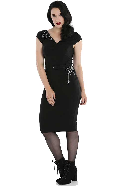 Hell Bunny Miss Muffet Stretch Pencil Dress