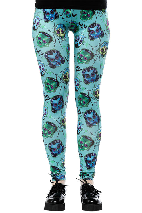 Sourpuss Monster Masks Leggings