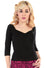 Collectif Morgana Top in Black
