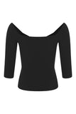 Collectif Dolores Black Morgana Top