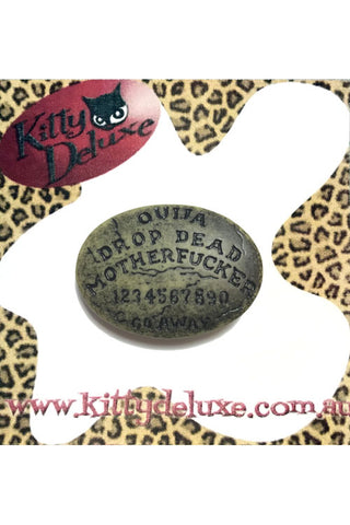 Kitty Deluxe Broochlette Brooch in 'Potty Mouth' Ouija